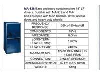 Ma-828 bass bins . New pd186 x4 700w each