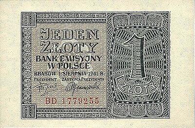 Ro.579b Besetzung Polen 1 Zloty 1941 (1)