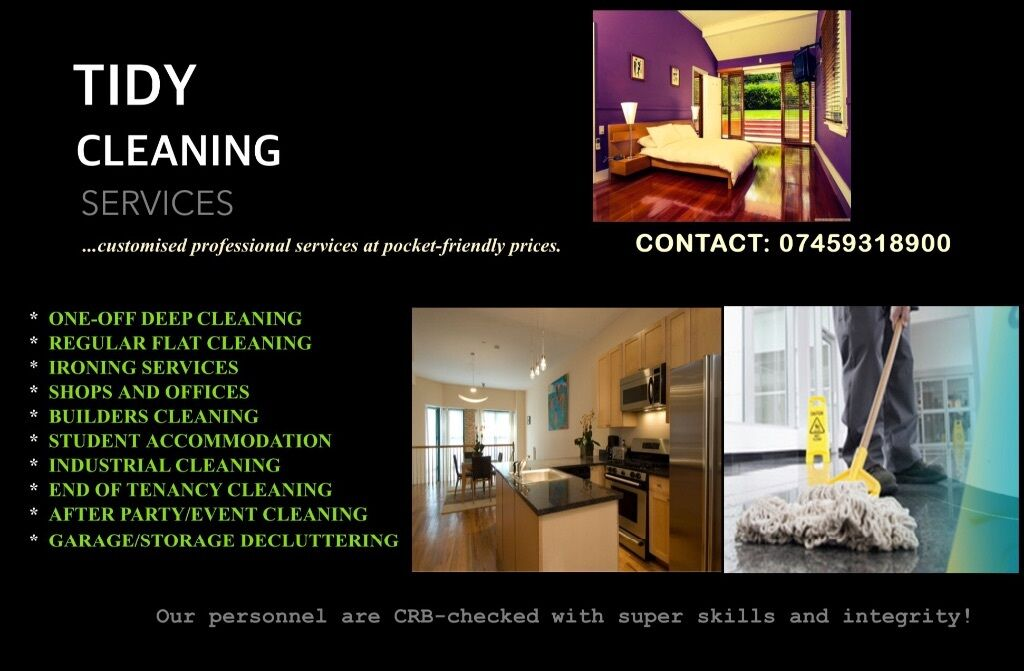 TIDY CLEANING SERVICES. (Domestic & Commercial Cleaning ...