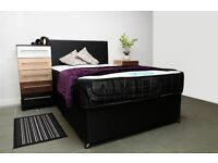 Brand New Double/Small Double Divan Bed Base with Pocket Sprung Memory Foam Orthopaedic Mattress