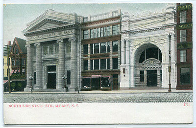 South Side State Street Commercial   Savings Banks Albany New York Postcard