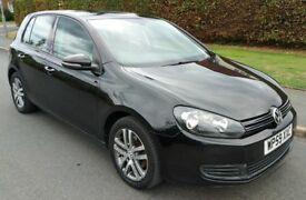 2010 BLACK MK6 VW GOLF 1.6 TDI SE BLUEMOTION 5 DOOR FULLY LOADED FSH 2 OWNERS