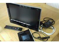 """Avtex 16"""" LCD TV DVD CD PVR motorhome camper van 12v/240v. W164DR"""