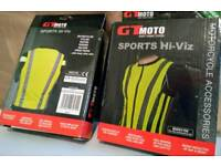 2 Motorcycle hi vis jackets sports horse cycle scooter NEW