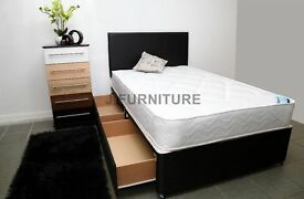 REAL DEAL! Brand New Divan Bed Base. Good Quality Medium Firm Mattress.All sizes! Free delivery