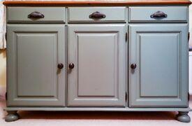 Ducal Victoria Painted-Pine Sideboard - 3 door, 3 drawer - new pewter knobs & handles