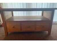 Solid oak tv unit/coffee table