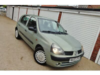 ## Cheap 2002 02 Renault Clio 1.2 Expression Long Mot ##