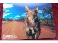 Novelty 3D Placemat Australian Kelpie Dog in Vivid Colour