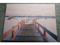 Canvas Picture 80cm x 60cm Gulf Florida excellent condition