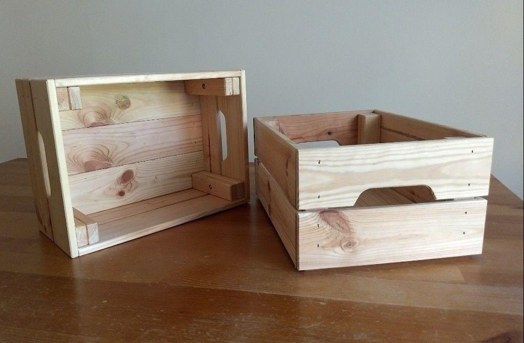 5f7db5a3ac4 Ikea KNAGGLIG small pine wood Box crate