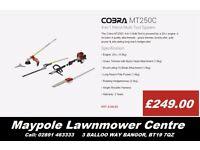 New COBRA MT250C Multi-Tool, 2 Yr Warranty (Chainsaw, Strimmer, Hedgecutter attachment)