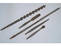 5 Antique Brace Bits