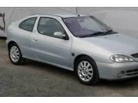 Renault megane coupe fidji 16v silver car 2002