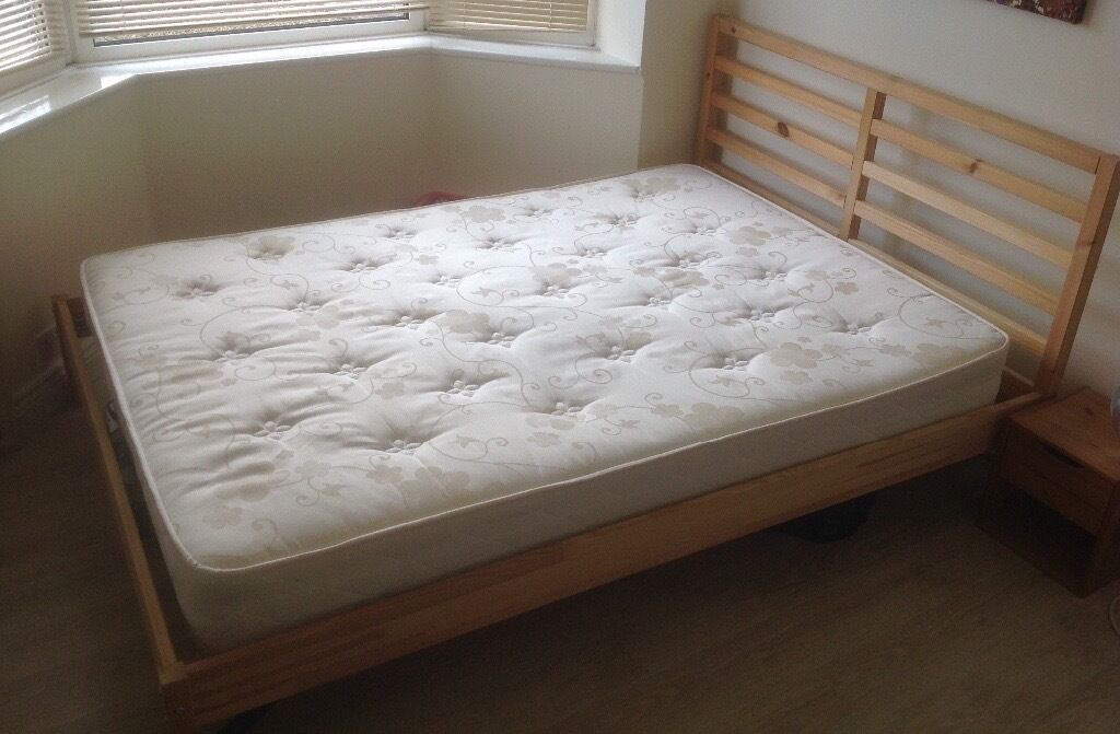 Ikea Tarva Pine Double Bed Frame Mattress In Bournemouth Dorset Gumtree