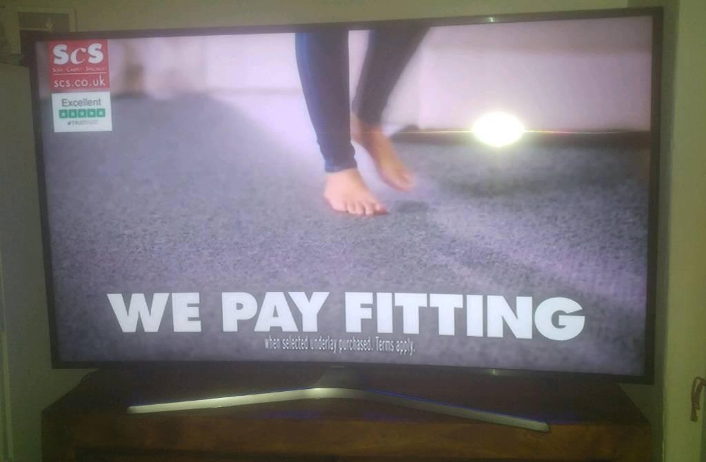 "Samsung curved 55"" smart tv"