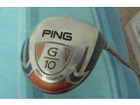 Ping G10 Driver, 10.5, TFC129, Regular shaft.