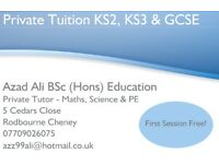 Private Tuition - Maths, Science & PE - KS2, KS3, GCSE & Adult Learning + Online Tuition