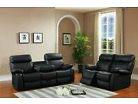 VENICE LEATHER RECLINER SOFA 3+2
