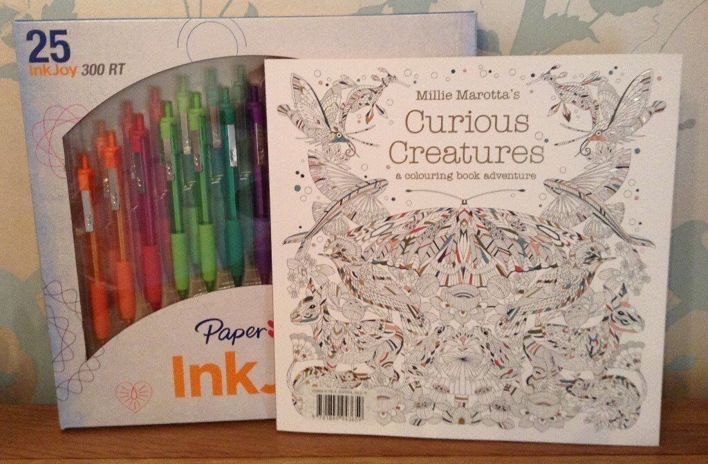 Colouring Book Paper Mate Inkjoy Coloured Pens NEW Christmas Gift
