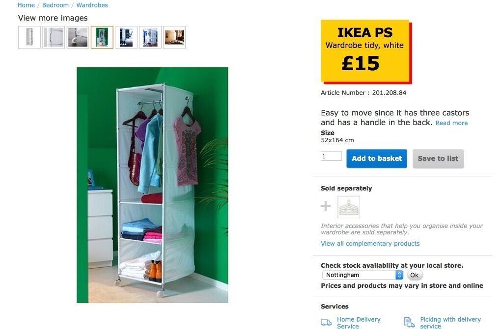 IKEA PS Wardrobe tidy