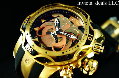 Invicta Mens Reserve 52mm VENOM Gen III BULLDOG SWISS Chrono Gold Tone SS Watch