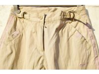 "Olympus UK 10 Ladies Light Cream Soft Feel Casual Trousers W30"" & L29"""