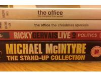 Ricky Gervais and Michael McIntyre dvds