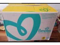 Pampers Premium Protection Nappies - Size 3 - *204* nappies in box - NEW UNOPENED
