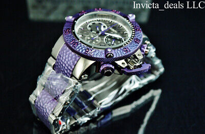 Invicta 50mm Subaqua Noma III HAMMER Swiss Chrono Jellyfish Purple Titanium Watc