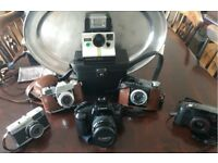 a collection of cameras