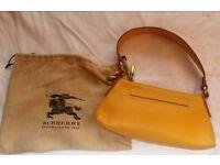 Genuine Dark Yellow Burberry Handbag