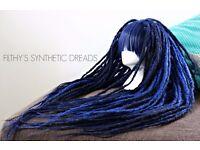 DREAD WIG / synthetic dreads dreadlocks / cosplay dreadwig / dread extensions