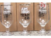 STRONGBOW DRINKING GLASSES X 9