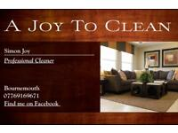 A joy to clean carpets and upholstery domestic and commercial cleaning