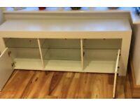 White tv unit / storage unit