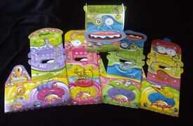 Pack 10 Large cardboard Monster Party Boxes. New and unused.