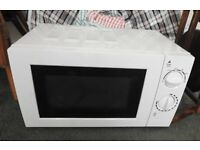 Microwave Oven, small basic manual model in white