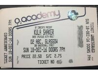 Ticket for Kula Shaker's SOLD OUT Gig at 02 ABC in Glasgow on Sunday 18 December.