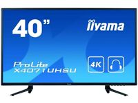"Iiyama 40"" ProLite 4K 60Hz Widescreen LED Monitor Black"