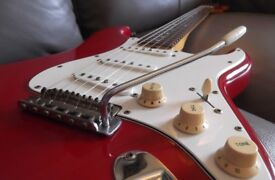 Tokai 1982/3 Made in Japan Strat SPRINGY SOUND cased. Rare CANDY RED (CR)