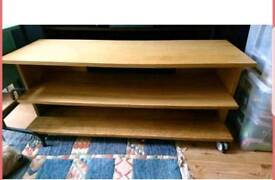 Ikea wooded tv television console table unit stand