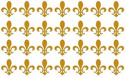 Fleur De Lis Stickers (Lot of 28 small Fleur De Lis, New Orleans,French, decals or stickers vinyl cut.)