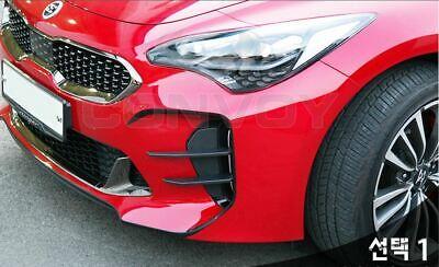 New Front Bumper Devil`s Clow Canard Wing Fog Lamp Cover For Kia Stinger 18-19