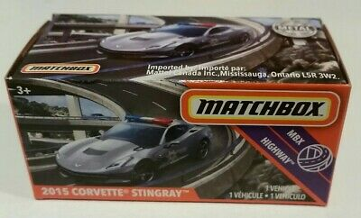 Matchbox 2015 Corvette Stingray (2020 Power Grabs CASE R) police, 1:64 MIB NEW