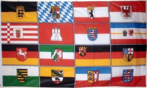 GERMAN FEDERAL STATES 5X3 FEET FLAG Polyester fabric SAXONY BAVARIA GERMANY