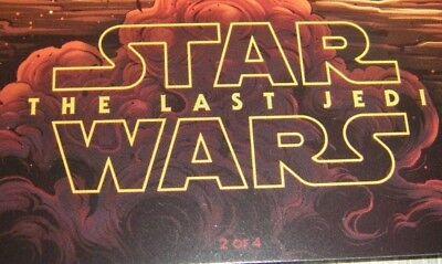 Купить Star Wars The Last Jedi AMC Exclusive IMAX Full Set  #1, #2, #3 and #4 Posters