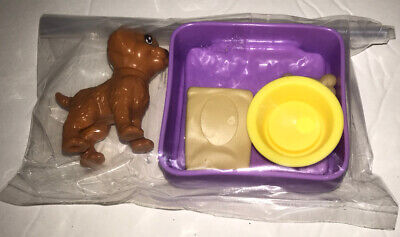 NEW Barbie Dream House 2018 New Replacement Part - Puppy/Dog, Dog Bed, Food Bowl