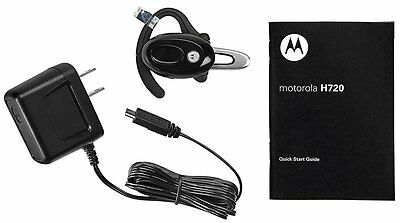 Motorola H720 Bluetooth Ear-Hook Headset - Black - Genuine Motorola -Brand New