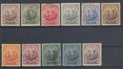 BARBADOS 1916-19 SERIE COMPLETA 11 VALORI N.181-191 G.O MLH* / USATI
